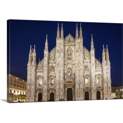 Large Solid-Faced Canvas Print Wall Art Print 30 x 20 entitled Cathedral Duomo of Milan