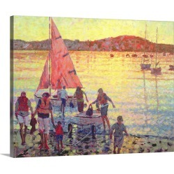 Large Solid-Faced Canvas Print Wall Art Print 30 x 24 entitled Returning Home, Late Summer Evening
