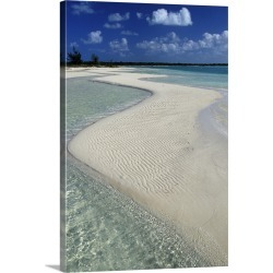 Large Solid-Faced Canvas Print Wall Art Print 20 x 30 entitled Half Moon Bay, Turks and Caicos, Caribbean