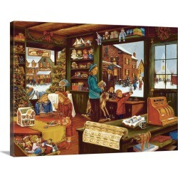 Large Solid-Faced Canvas Print Wall Art Print 40 x 30 entitled Corner Store