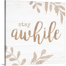 Large Solid-Faced Canvas Print Wall Art Print 20 x 20 entitled Shiplap Sentiment II