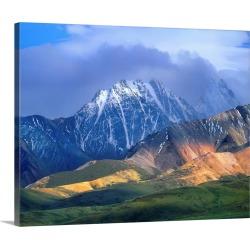 Large Gallery-Wrapped Canvas Wall Art Print 24 x 19 entitled Alaska Range and foothills, Denali National Park, Alaska