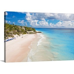 Large Solid-Faced Canvas Print Wall Art Print 30 x 20 entitled Barbados, Crane Beach