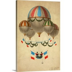 Large Gallery-Wrapped Canvas Wall Art Print 16 x 24 entitled Hot Air Balloon 17 found on Bargain Bro India from Great Big Canvas - Dynamic for $214.99