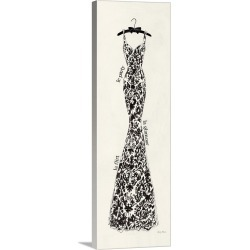 Large Solid-Faced Canvas Print Wall Art Print 16 x 48 entitled Couture Noir Original II