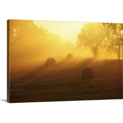 Large Solid-Faced Canvas Print Wall Art Print 30 x 20 entitled Late summer morning in Missouri.