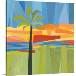 Large Solid-Faced Canvas Print Wall Art Print 20 x 20 entitled Traveling Tropical I