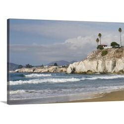 Large Solid-Faced Canvas Print Wall Art Print 30 x 20 entitled CA, Pismo Beach, Pelican Point.