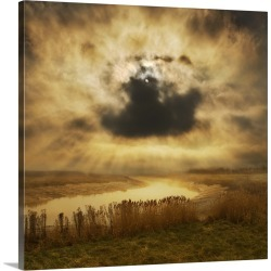 Large Gallery-Wrapped Canvas Wall Art Print 16 x 16 entitled Skies over the marsh found on Bargain Bro India from Great Big Canvas - Dynamic for $169.99