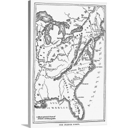 Large Solid-Faced Canvas Print Wall Art Print 20 x 30 entitled A Map Of the Thirteen Original American Colonies