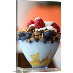 Large Gallery-Wrapped Canvas Wall Art Print 16 x 24 entitled Fruit And Granola In Yogurt found on Bargain Bro India from Great Big Canvas - Dynamic for $214.99