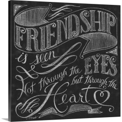 Large Gallery-Wrapped Canvas Wall Art Print 16 x 16 entitled Friendship is Seen