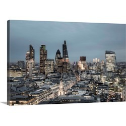 Large Solid-Faced Canvas Print Wall Art Print 30 x 20 entitled City of London skyline, London, England