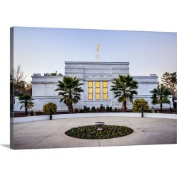 Large Solid-Faced Canvas Print Wall Art Print 30 x 20 entitled Columbia South Carolina Temple, Side View, Columbia, South ... found on MODAPINS from Great Big Canvas - Dynamic for USD $179.99