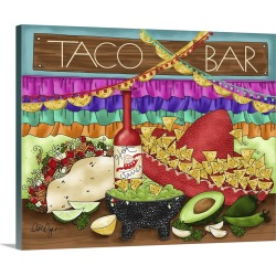 Large Solid-Faced Canvas Print Wall Art Print 30 x 24 entitled Taco Bar