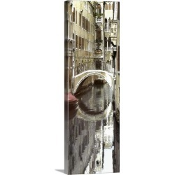 Large Solid-Faced Canvas Print Wall Art Print 12 x 36 entitled Venice III