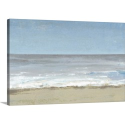 Large Solid-Faced Canvas Print Wall Art Print 30 x 20 entitled Beach Walking Day II