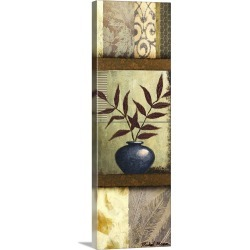 Large Solid-Faced Canvas Print Wall Art Print 16 x 48 entitled Vase Ornament II
