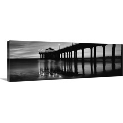 Large Solid-Faced Canvas Print Wall Art Print 48 x 16 entitled Manhattan Beach Pier, Manhattan Beach, Los Angeles County, ... found on Bargain Bro India from Great Big Canvas - Dynamic for $209.99