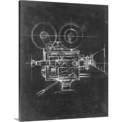 Large Gallery-Wrapped Canvas Wall Art Print 19 x 24 entitled Camera Blueprints II