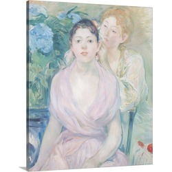 Large Solid-Faced Canvas Print Wall Art Print 24 x 30 entitled The Hortensia, or The Two Sisters, 1894