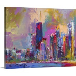 Large Gallery-Wrapped Canvas Wall Art Print 20 x 16 entitled Chicago IV found on Bargain Bro India from Great Big Canvas - Dynamic for $144.99