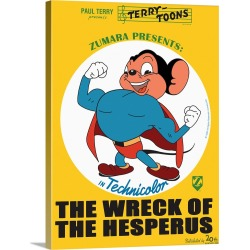 Large Solid-Faced Canvas Print Wall Art Print 30 x 40 entitled Mighty Mouse The Wreck of the Hesperus