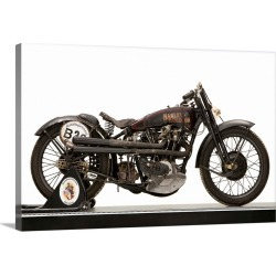 Large Solid-Faced Canvas Print Wall Art Print 30 x 20 entitled 1926 Harley Davidson 74ci Model J OHV Racing motorcycle found on Bargain Bro from Great Big Canvas - Dynamic for USD $148.19
