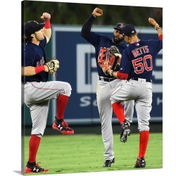 Large Gallery-Wrapped Canvas Wall Art Print 18 x 20 entitled Boston Red Sox vs. Los Angeles Angels of Anaheim