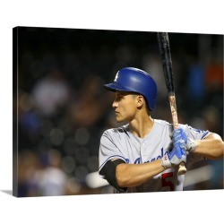 Large Gallery-Wrapped Canvas Wall Art Print 24 x 18 entitled Los Angeles Dodgers vs. New York Mets