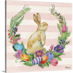Large Gallery-Wrapped Canvas Wall Art Print 20 x 20 entitled Juliette Bunny I found on Bargain Bro India from Great Big Canvas - Dynamic for $164.99