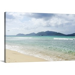 Large Solid-Faced Canvas Print Wall Art Print 30 x 20 entitled View of Long Bay Beach.