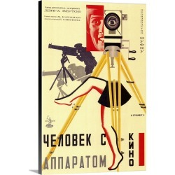 Large Gallery-Wrapped Canvas Wall Art Print 20 x 30 entitled Russian Camera with legs (1929)