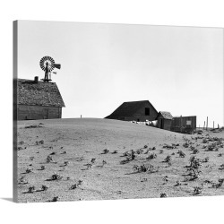 Large Solid-Faced Canvas Print Wall Art Print 30 x 24 entitled Dustbowl Farm