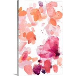 Large Solid-Faced Canvas Print Wall Art Print 20 x 30 entitled Butterfly Dance in Pink A