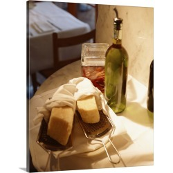 Large Gallery-Wrapped Canvas Wall Art Print 16 x 20 entitled Parmesan cheese with grater and olive oil found on Bargain Bro India from Great Big Canvas - Dynamic for $189.99