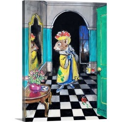 Large Gallery-Wrapped Canvas Wall Art Print 18 x 24 entitled The Town Mouse and the Country Mouse found on Bargain Bro India from Great Big Canvas - Dynamic for $234.99