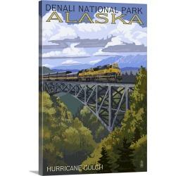 Large Gallery-Wrapped Canvas Wall Art Print 20 x 30 entitled Denali National Park, Alaska, Hurricane Gulch