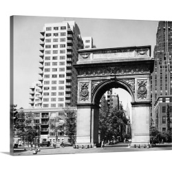 Large Gallery-Wrapped Canvas Wall Art Print 24 x 19 entitled Arch in Washington Square Park in New York City