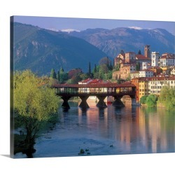 Large Gallery-Wrapped Canvas Wall Art Print 20 x 16 entitled Italy, Veneto, Bassano del Grappa, view of the town with Pont... found on Bargain Bro India from Great Big Canvas - Dynamic for $189.99