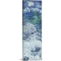 Large Solid-Faced Canvas Print Wall Art Print 12 x 36 entitled Tide Pool IV
