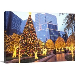 Large Solid-Faced Canvas Print Wall Art Print 30 x 20 entitled James Center, Richmond, Virginia