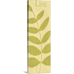 Large Solid-Faced Canvas Print Wall Art Print 16 x 48 entitled Nature Trio - Live