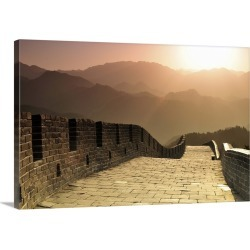 Large Gallery-Wrapped Canvas Wall Art Print 24 x 16 entitled Great Wall of China, Badaling Section in early morning. found on Bargain Bro India from Great Big Canvas - Dynamic for $169.99