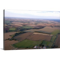 Large Gallery-Wrapped Canvas Wall Art Print 24 x 16 entitled View over Essex farmland from a hot air balloon, Essex, Engla... found on Bargain Bro India from Great Big Canvas - Dynamic for $224.99