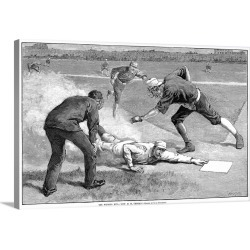 Large Gallery-Wrapped Canvas Wall Art Print 24 x 16 entitled Giants vs. White Sox Baseball Game, 1885