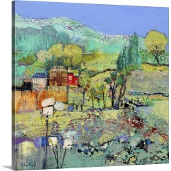Large Solid-Faced Canvas Print Wall Art Print 20 x 20 entitled A Calm Day