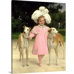 Large Gallery-Wrapped Canvas Wall Art Print 18 x 20 entitled Alice Antoinette de la Mar, aged five found on MODAPINS from Great Big Canvas - Dynamic for USD $204.99