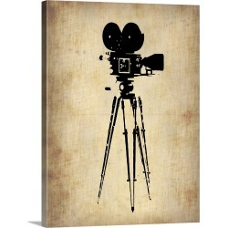 Large Gallery-Wrapped Canvas Wall Art Print 23 x 30 entitled Vintage Film Camera
