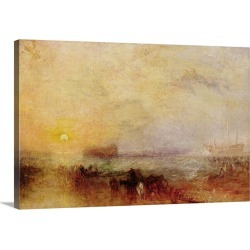 Large Solid-Faced Canvas Print Wall Art Print 30 x 20 entitled The Morning after the Wreck, c.1835-40